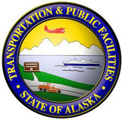 Logo for the State of Alaska Transportation and Public Facilities