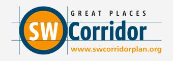 SW Corridor, Great Places, www.swcorridorplan.org